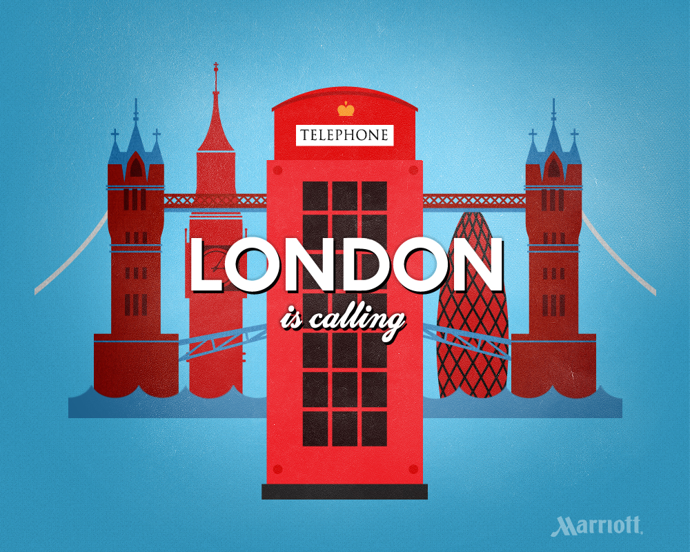 London is Calling: London Travel Poster