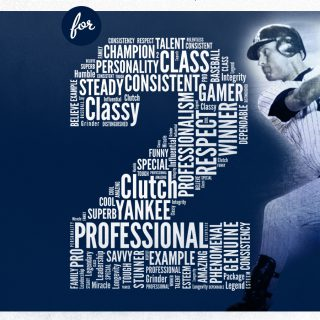 One Word For Two: Derek Jeter Word Cloud