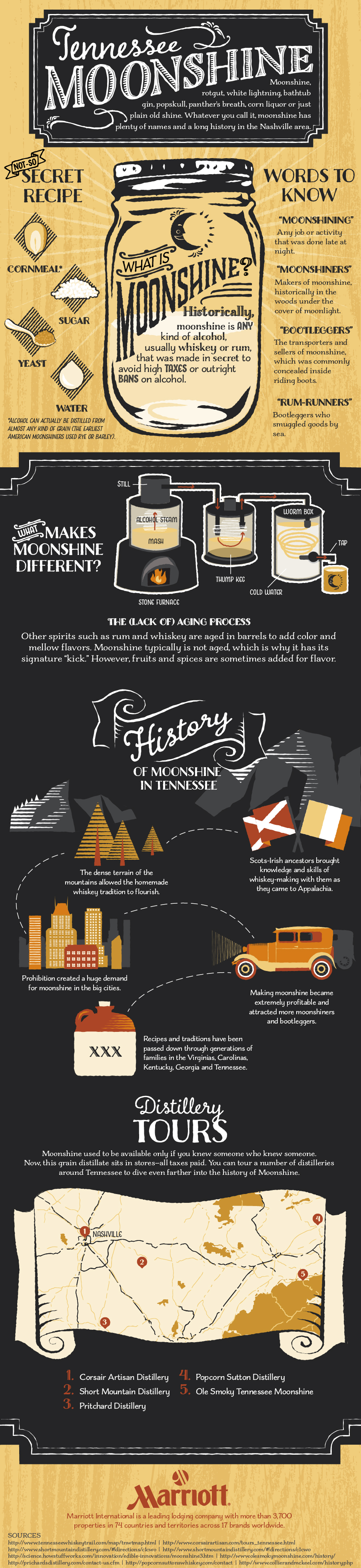 Tennessee Moonshine 101 | Best Food Infographics