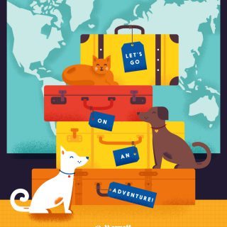 Pet-Friendly Hotel Illustrated Travel Poster