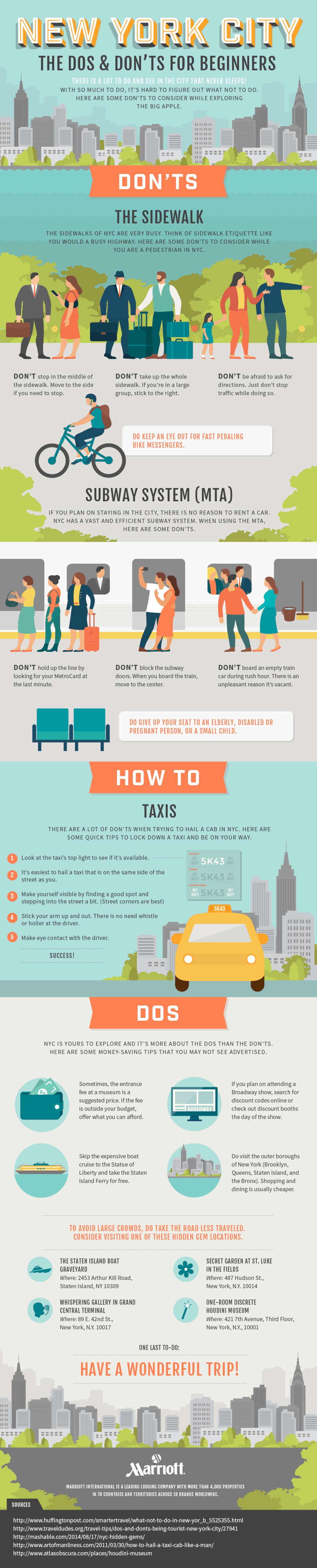 Best Infographics: The Dos & Don'ts For New York City