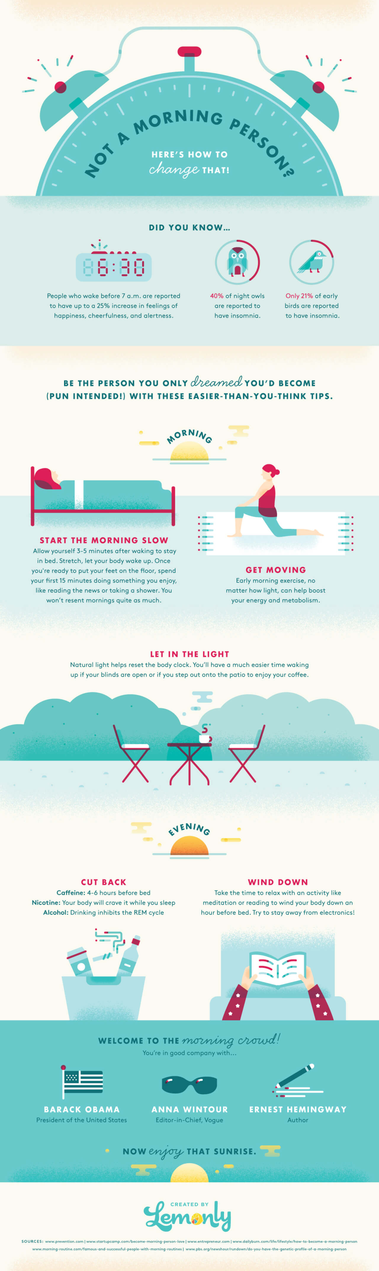 Best Infographics: How to Become a Morning Person