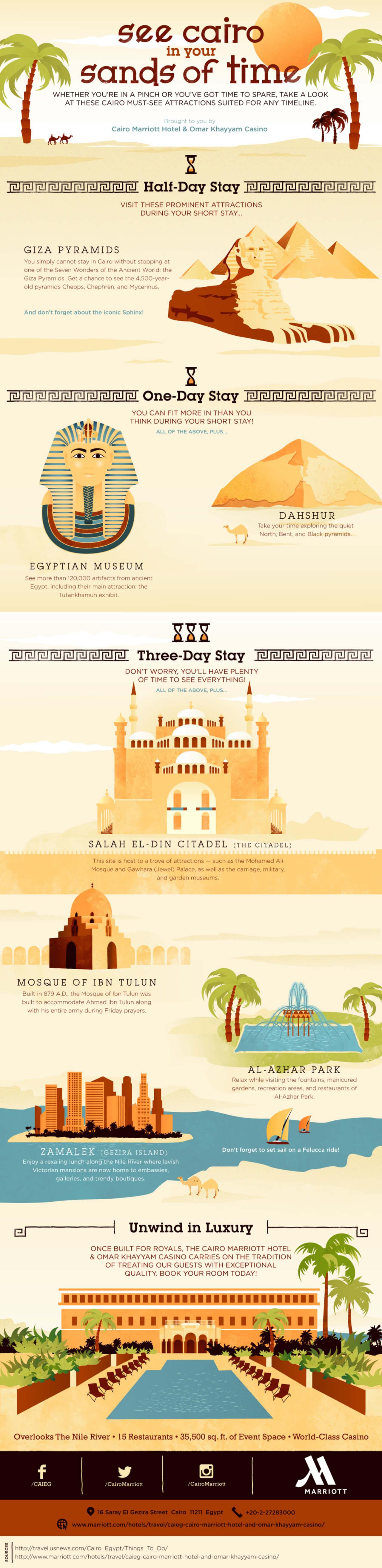 Best Infographics: Famous Landmarks in Cairo